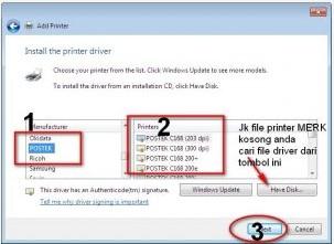 Cara mudah Instal Driver Printer Kasir