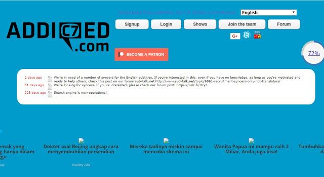 Cara Download Subtitle Indonesia Dengan Situs Addic7ed