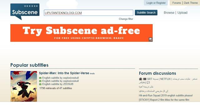 Cara Download Subtitle Indonesia Menggunakan Situs Subscene