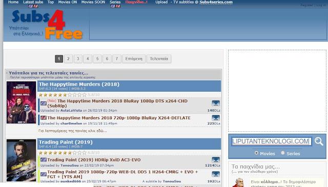 Cara Download Subtitle Inggris Dengan Situs Subs4Free
