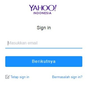 Cara membuat akun email yahoo
