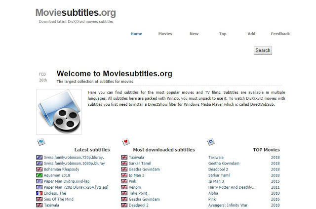 Download Subtitle Movie Menggunakan Situs Moviessubtitles