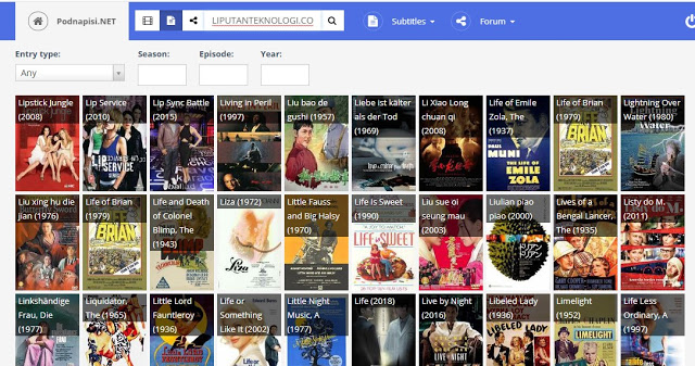 Subtitle Downloas Menggunakan Situs Popnapisi