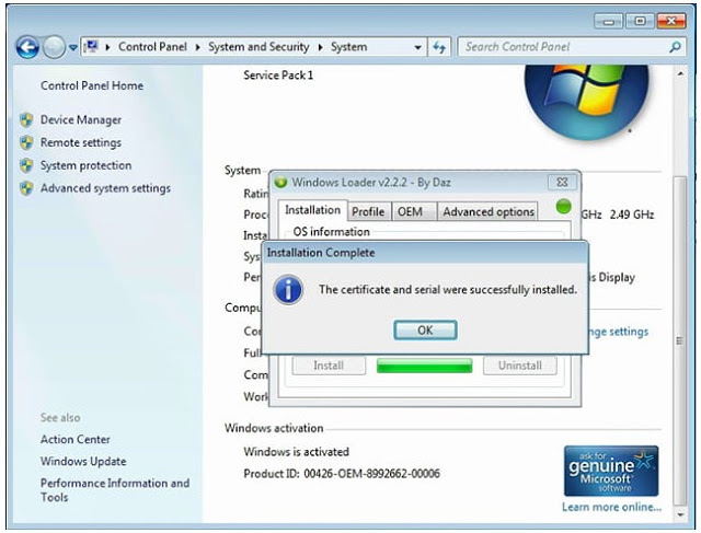 aktivasi windows 7 ultimate 64 bit tanpa loader