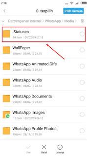 cara download foto story whastapp