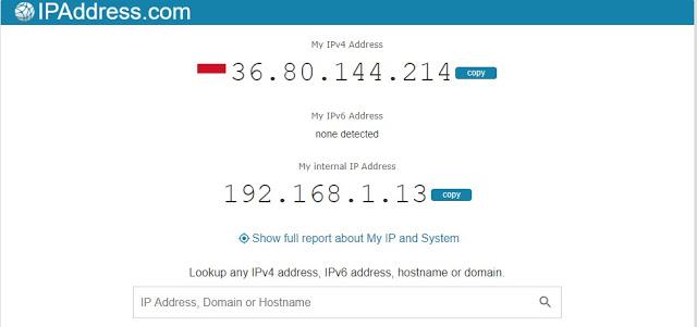 Cek IP Address di PC Melalui Website
