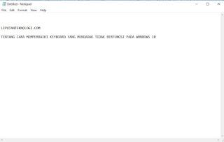 Cara Memperbaiki Keyboard Mendadak Tidak Berfungsi Pada Windows 10
