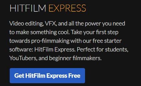 Aplikasi Edit Video Gratis HitFilm Express