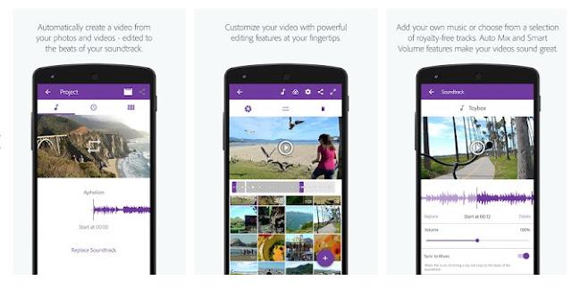 Aplikasi Pengedit Video offline untuk android dengan Adobe Premiere Clip