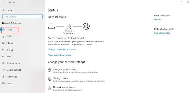 Cara Cek IP Adress Modem