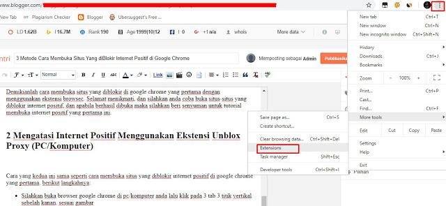 Mengatasi Internet Positif Menggunakan Ekstensi Unblox