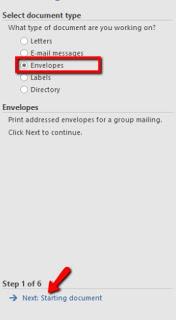 Cara Pengaturan Mencetak Amplop dengan Mail Marge