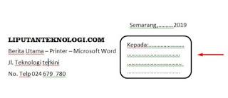 Cara Membuat Nota dengan Microsoft Word