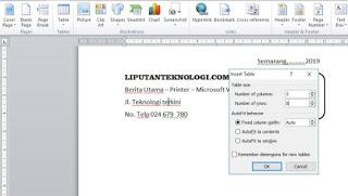 Cara Membuat Nota di Microsoft Word