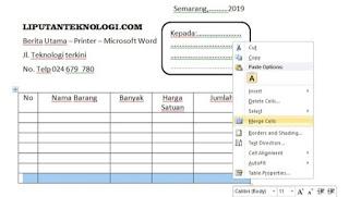 Cara Membuat Nota di Ms Word