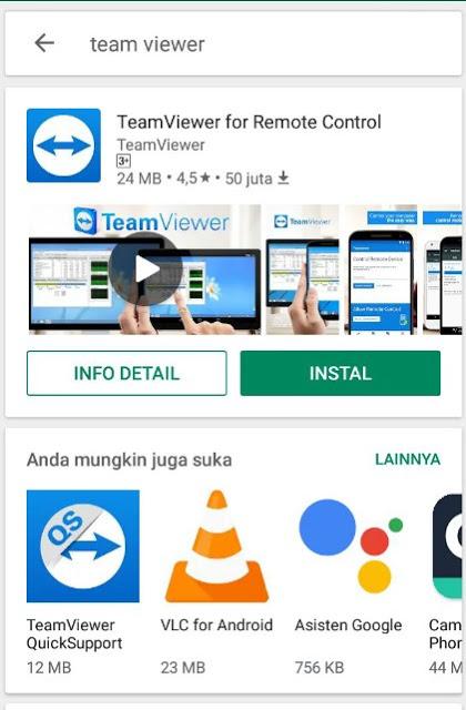 Cara Meremot Laptop Melalui Ponsel Android Dengan TeamViewer