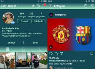 Contoh Tema Instagram Berwarna