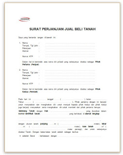 Download Surat Perjanjian Jual Beli Tanah